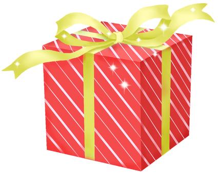 Gift stripe red