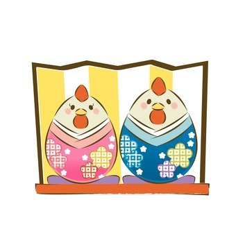 Rooster Hina doll
