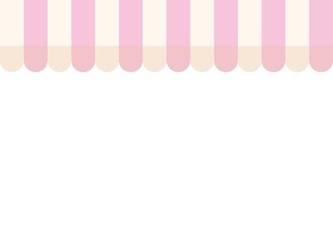 점포 천막 (파스텔 핑크 × 화이트)