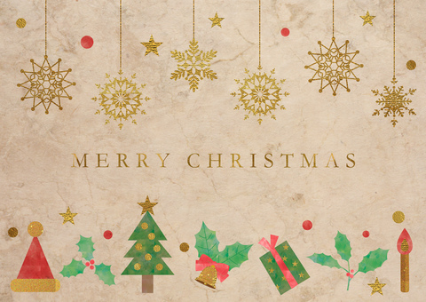 Christmas decorations_used paper background 2406
