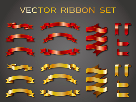 Ribbon material set