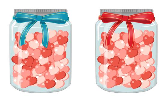 Heart bottling gift