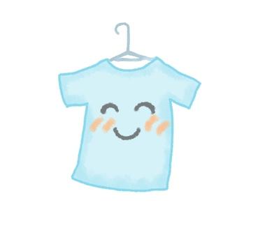 Smiling laundry T-shirt