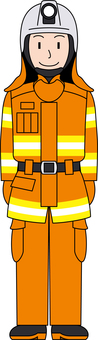 Professional uniform firefighter