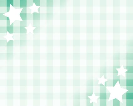框架與明星和格子呢檢查 - 藍綠色
