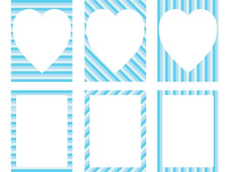 하늘색 줄무늬 프레임 2