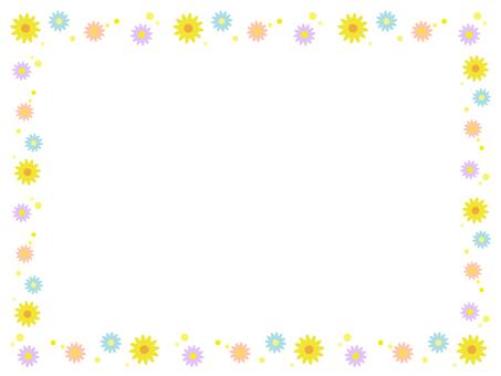 Flower decoration frame 12