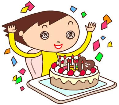 Elementary school character / birthday