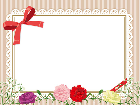Mother's Day Carnation card beige 1