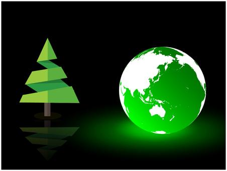 지구와 녹색