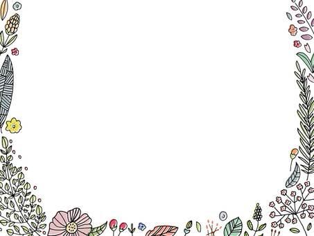 보태니컬 꽃 디자인 프레임