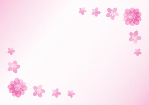 벚꽃을 사용한 배경 소재 1