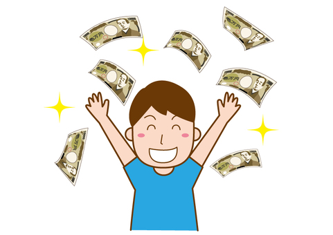 Men who rejoice with a lot of money
