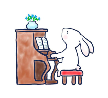Piano rabbit 27