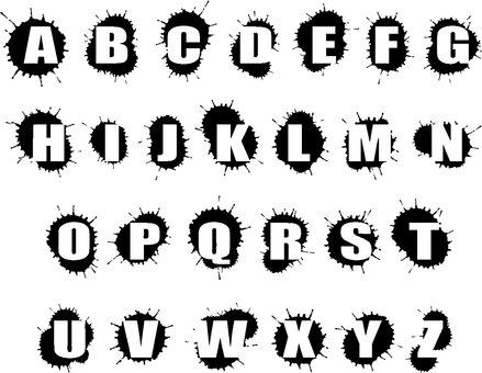 Horror splash alphabet set
