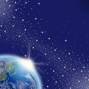 地球 日の出