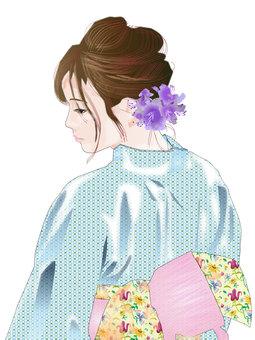 Yukata woman 08