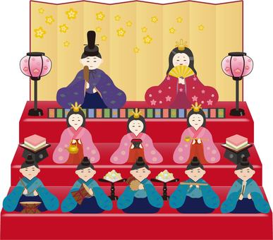 Hina doll decorations