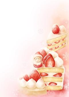 Christmas cake message card