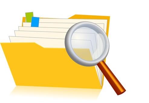 Folder + magnifying glass: RGB