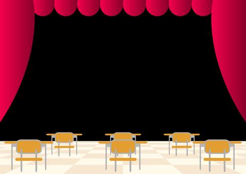 무대 무대 책상