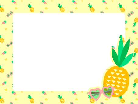 Pineapple and sunglasses frame