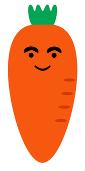 Smiling carrot