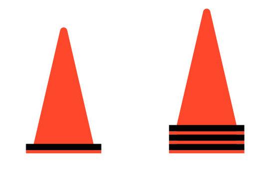 Color cone sideways