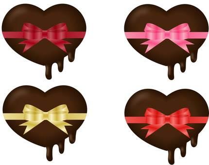 Melt Heart Chocolate and Ribbon