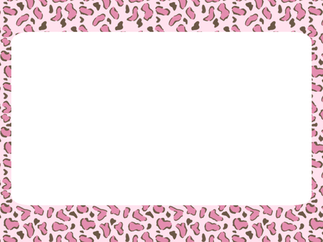 Leopard pattern frame (pink)
