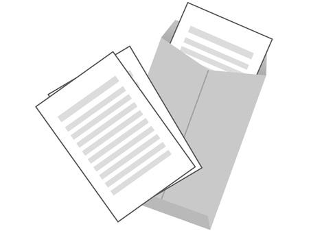 60820. 서류 봉투 회색 2