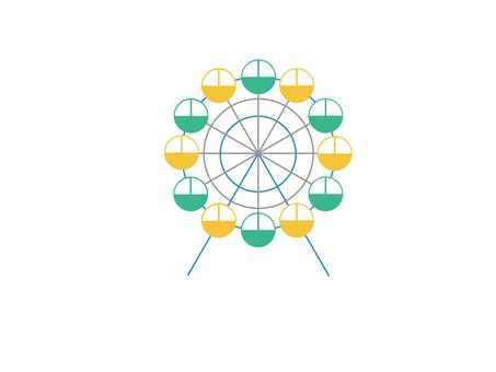 Ferris wheel (yellow × green)