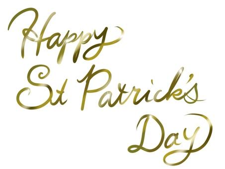 St Patricks Day Letter Gold