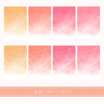 Watercolor material 01 / warm color