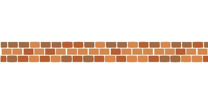 Dividing line (brick / light color)