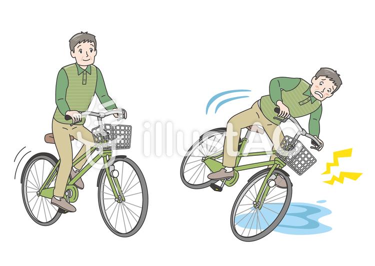 Ac保険 高齢者 自転車 交通安全 事故イラスト No 1450080