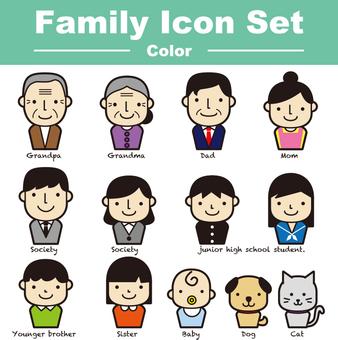 家族のアイコンセット