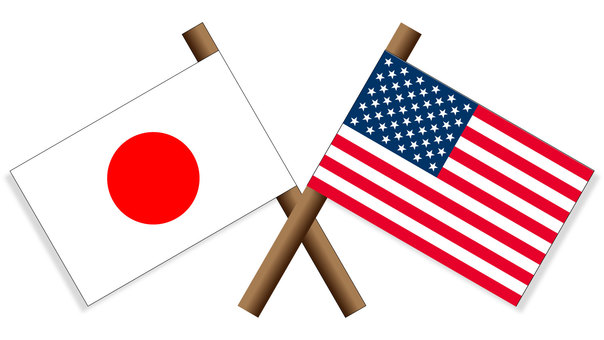 National flag Japan × America
