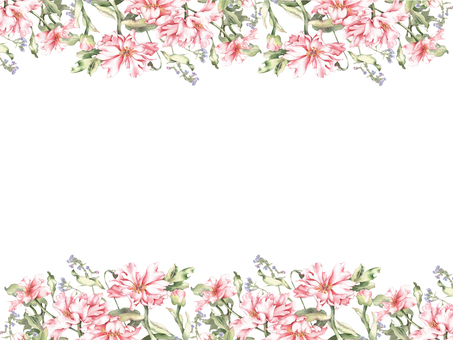 Flower frame 437 Peony flower frame