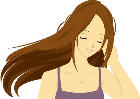 Long hair woman ②