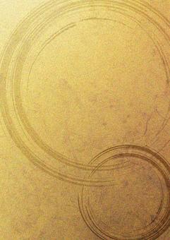 Brush pattern_Gold leaf_Vertical type 2259