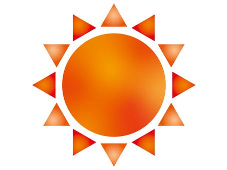 Sun Illustration A Red Gradation