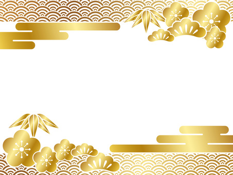 New Year card template (gold)
