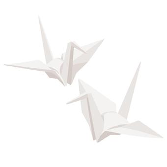 Folding crane white