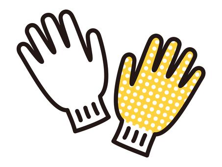 Gloves with non-slip