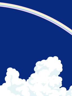 虹と入道雲3