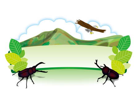 Fresh green early summer mountain (7) Insect title board