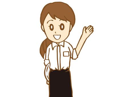 Cafe clerk (woman)
