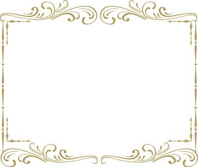 골동품 무늬 액자 프레임 배경 소재 고급 스러움