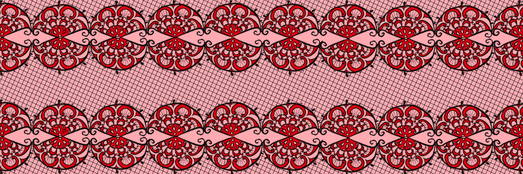 Lace pattern red